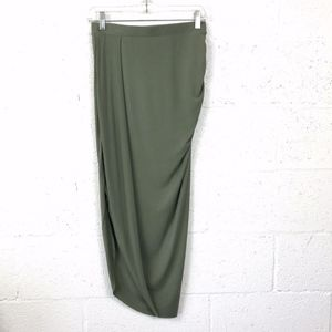 The Limited Live Love Lead Green Asymmetrica Skirt